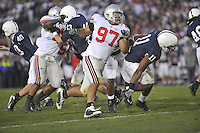 07 November 2009:  Ohio State DE Cameron Heyward (97) had 11 tackles and 2 sacks.  The Ohio State Buckeyes defeated the Penn State Nittany Lions 24-7 at Beaver Stadium in State College, PA..