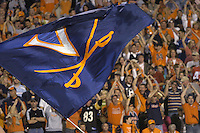 24 September 2005:  Fans celebrates after Virginia scores the first TD of the game.  The Virginia Cavaliers upset the #4 Florida State Seminoles 26-21 at Scott Stadium in Charlottesville, VA.