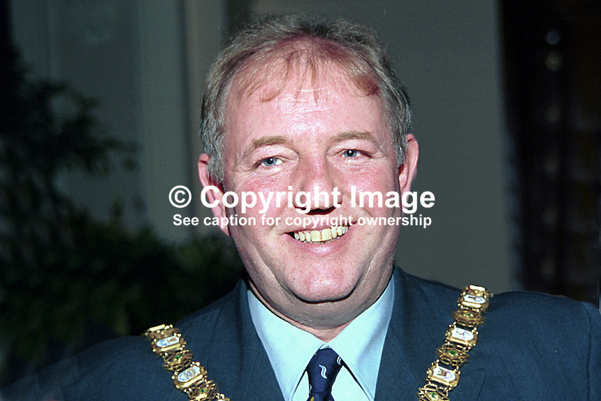 Bob Stoker, Ulster Unionist, Lord Mayor of Belfast, N Ireland, UK. Ref: 199911073.<br />