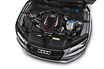 Car stock 2015 Audi S7 Base 4 Door Sedan engine high angle detail view