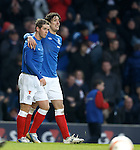 Me and my wee pal Temps..Fran Sandaza and David Templeton after goal no 3
