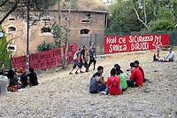 """Roma 17 Luglio 2008.Centro Sociale occupato """"Forte Prenestino""""..Rome.Centro Sociale """"Forte Prenestino""""."""