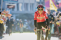 Tiesj Benoot (BEL/Lotto-Soudal) at the (new) race start in Antwerpen<br /> <br /> 101th Ronde Van Vlaanderen 2017 (1.UWT)<br /> 1day race: Antwerp › Oudenaarde - BEL (260km)