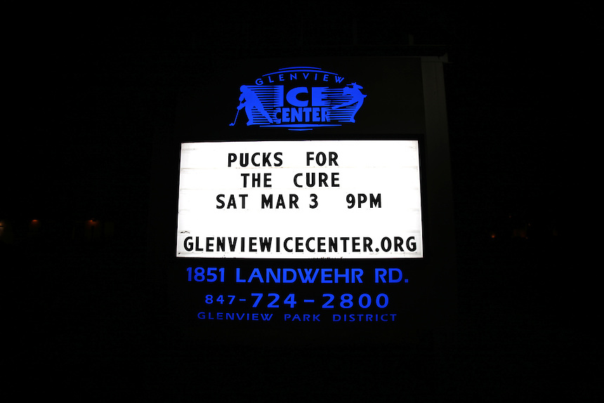 Pucks for the Cure at the Glenview Ice Center with Ms. Conduct