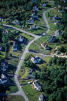 aerial, suburban housing, Bedford, MA