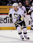 21 September 2009: Pittsburgh Penguins' left wing Chris Kunitz warms up prior to a pre-season game against the Montreal Canadiens at the Bell Centre in Montreal, Quebec, Canada. The Canadiens edged out the defending Stanley Cup Champions 4-3. Mandatory Credit: Ed Wolfstein Photo