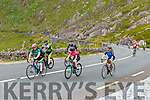 Cyclists climbing Coommosta during their Ring of Kerry cycle on Saturday morning