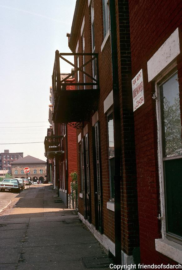 St. Louis: Soulard Neighborhood--8th St. looking toward Market. Photo '77.