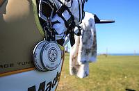 England Golf bag badge during Round Two of the West of England Championship 2016, at Royal North Devon Golf Club, Westward Ho!, Devon  23/04/2016. Picture: Golffile | David Lloyd<br /> <br /> All photos usage must carry mandatory copyright credit (&copy; Golffile | David Lloyd)