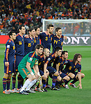 Netherlands play Spain during the Final FIFA World Cup 2010 at the Soccer City Stadium on July 11, 2010 in Johannesbourgh, South Africa. Photo by Juan Flor / The Power of Sport Images