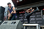 Beau Gobert and Gabriel Cavazos of American Fangs perform during the 2013 Rock On The Range festival at Columbus Crew Stadium in Columbus, Ohio.