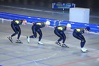 SCHAATSEN: HEERENVEEN: Thialf, 12-06-2012, Zomerijs, Lotte van Beek, Koen Verweij, Renz Rotteveel, Maurice Vriend, ©foto Martin de Jong