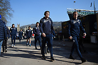 Sale Sharks players arrive at the Rec. Aviva Premiership match, between Bath Rugby and Sale Sharks on February 24, 2018 at the Recreation Ground in Bath, England. Photo by: Patrick Khachfe / Onside Images