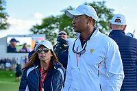 Tiger woods departs the 18th green during round 2 Four-Ball of the 2017 President's Cup, Liberty National Golf Club, Jersey City, New Jersey, USA. 9/29/2017.<br /> Picture: Golffile | Ken Murray<br /> <br /> All photo usage must carry mandatory copyright credit (&copy; Golffile | Ken Murray)