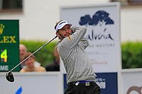 Joost Luiten (NED) tees off the 1st tee during Saturday's rain delayed Round 2 of the Andalucia Valderrama Masters 2018 hosted by the Sergio Foundation, held at Real Golf de Valderrama, Sotogrande, San Roque, Spain. 20th October 2018.<br /> Picture: Eoin Clarke | Golffile<br /> <br /> <br /> All photos usage must carry mandatory copyright credit (&copy; Golffile | Eoin Clarke)