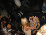 Dave Navarro kissing girl at club Area in HOllywood.Exclusive