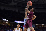 GREENVILLE, SC - MARCH 17: Demontrae Jefferson (3) of Texas Southern University puts up a shot under coverage from the University of North Carolina during the 2017 NCAA Men's Basketball Tournament held at Bon Secours Wellness Arena on March 17, 2017 in Greenville, South Carolina. (Photo by Grant Halverson/NCAA Photos via Getty Images)