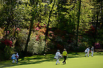 AUGUSTA, GA: APRIL 10 - Bubba Watson of the United States walks to the first green during the first round of the 2014 Masters held in Augusta, GA at Augusta National Golf Club on Thursday, April 10, 2014.. (Photo by Donald Miralle)