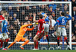 01.02.2020 Rangers v Aberdeen: Ash Taylor with a free header which is saved by Allan McGregor