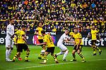 11.05.2019, Signal Iduna Park, Dortmund, GER, 1.FBL, Borussia Dortmund vs Fortuna Düsseldorf, DFL REGULATIONS PROHIBIT ANY USE OF PHOTOGRAPHS AS IMAGE SEQUENCES AND/OR QUASI-VIDEO<br /> <br /> im Bild | picture shows:<br /> Strafraumszene | Dormund klaert in hoechster Not, <br /> <br /> Foto © nordphoto / Rauch
