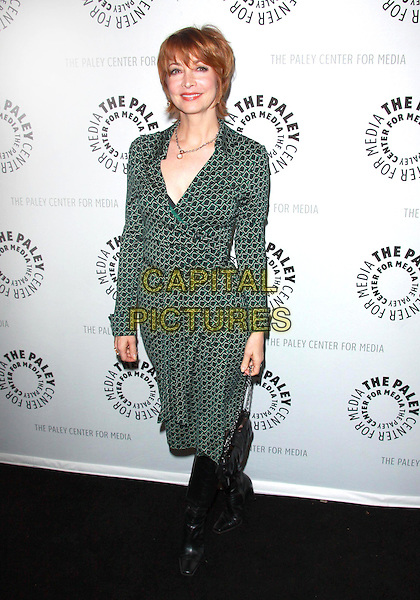 """SHARON LAWRENCE .27th Annual Paley Fest presents """" Curb Your Enthusiasm"""" held at the Saban Theatre, Beverly Hills, California, USA, 14th March 2010..full length green dress wrap print patterned pattern black bag knee high boots .CAP/ADM/TC.©T.Conrad/Admedia/Capital Pictures"""