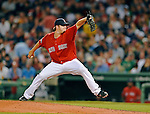 8 June 2012: Boston Red Sox pitcher Matt Albers in action against the Washington Nationals at Fenway Park in Boston, MA. The Nationals defeated the Red Sox 7-4 in the opening game of their 3-game series. Mandatory Credit: Ed Wolfstein Photo