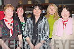 COMMUNITY: Enjoying the community council social evening in Keans Bar & Restaurant, Curraheen, Tralee on Friday night. L-r: Liz Furlong, Marion O'Halloran, Sarah Conway, Breda Drumm and Beatrice O'Sullivan.................................. ....