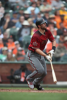 SAN FRANCISCO, CA - APRIL 11:  Paul Goldschmidt #44 of the Arizona Diamondbacks bats against the San Francisco Giants during the game at AT&T Park on Wednesday, April 11, 2018 in San Francisco, California. (Photo by Brad Mangin)