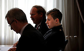 Picture shows 15 year old Ryan McLaughlin (who has campaigned on Multiple Sclerosis issues, after his mother, Kirsten, was diagnosed with the condition) with experts David McNiven and Prof George Ebers, at the Beardmore Hotel, Clydebank - picture by Donald MacLeod 21.09.10 - mobile 07702 319 738 - clanmacleod@btinternet.com - www.donald-macleod.com