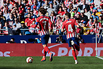 Atletico de Madrid's Antoine Griezmann (L) and Santiago Arias (R) during La Liga match between Atletico de Madrid and CD Leganes at Wanda Metropolitano stadium in Madrid, Spain. March 09, 2019. (ALTERPHOTOS/A. Perez Meca)
