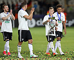 Germany's Max Meyer celebrates with the trophy during the UEFA Under 21 Final at the Stadion Cracovia in Krakow. Picture date 30th June 2017. Picture credit should read: David Klein/Sportimage
