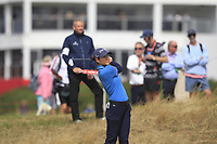 Azahara Munoz (ESP) on the 2nd fairway during Round 3 of the Ricoh Women's British Open at Royal Lytham &amp; St. Annes on Saturday 4th August 2018.<br /> Picture:  Thos Caffrey / Golffile<br /> <br /> All photo usage must carry mandatory copyright credit (&copy; Golffile | Thos Caffrey)