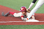 Michael Monda slides safely in to third base during the Pac-12 Conference tilt between the Washington State Cougars and Oregon State Beavers at Bailey-Brayton Field in Pullman, Washington, on April 11, 2014.  The Cougars defeated the 5th ranked Beavers, 4-1.