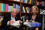 CORAL GABLES, FL - JANUARY 27: Author and former secret service agent Clint Hill and Lisa McCubbin signs copies of their book 'Five Days In November' at Books and Books on January 27, 2014 in Coral Gables, Florida. (Photo by Johnny Louis/jlnphotography.com)