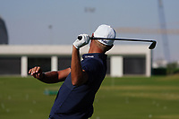 Adrian Meronk (POL) on the driving range during the Preview of the Commercial Bank Qatar Masters 2020 at the Education City Golf Club, Doha, Qatar . 03/03/2020<br /> Picture: Golffile   Thos Caffrey<br /> <br /> <br /> All photo usage must carry mandatory copyright credit (© Golffile   Thos Caffrey)