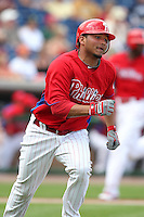 Philadelphia Phillies Freddy Galvis #71 during a scrimmage vs the Florida State Seminoles  at Bright House Field in Clearwater, Florida;  February 24, 2011.  Philadelphia defeated Florida State 8-0.  Photo By Mike Janes/Four Seam Images