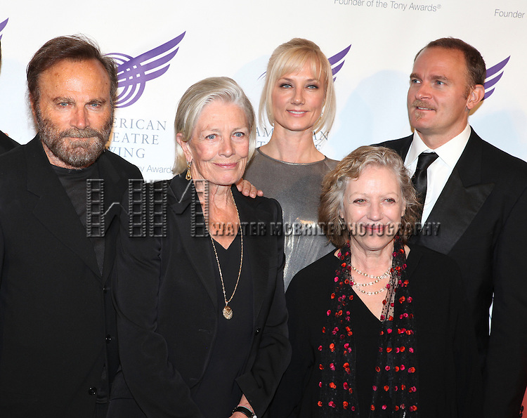 Franco Nero, Vanessa Redgrave, Joely Richardson, Kika Markham & Carlo Gabriel Nero attending the American Theatre Wing's annual gala at the Plaza Hotel on Monday Sept. 24, 2012 in New York.