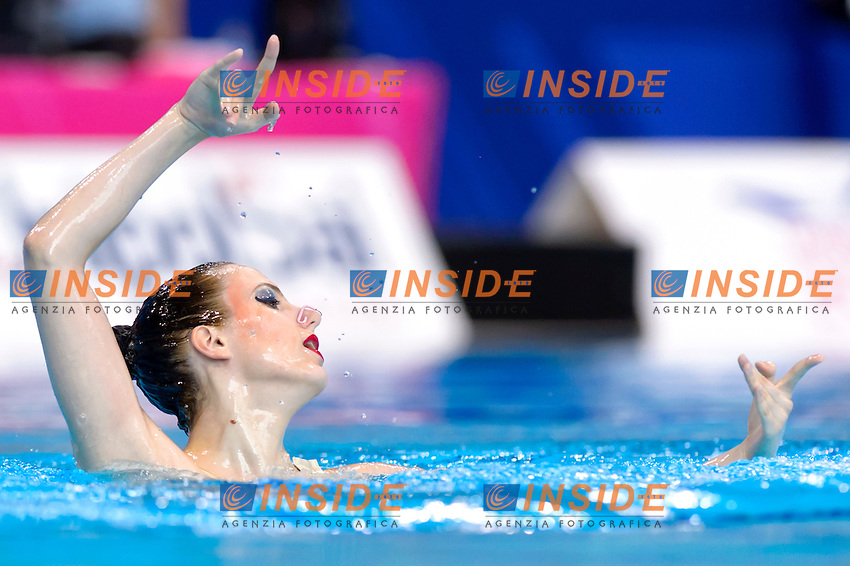 DIMITRIJEVIC Nevena SRB Serbia<br /> Solo Free<br /> London, Queen Elizabeth II Olympic Park Pool <br /> LEN 2016 European Aquatics Elite Championships <br /> Synchronized Swimming  <br /> Day 01 09-05-2016<br /> Photo Andrea Staccioli/Deepbluemedia/Insidefoto