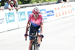 Joe Dombrowski (USA) EF Education First crosses the finish line in 5th place on the final climb Horquette d'Ancizan at the end of Stage 3 of the Route d'Occitanie 2019, running 173km from Arreau to Luchon-Hospice de France, France. 22nd June 2019<br /> Picture: Colin Flockton | Cyclefile<br /> All photos usage must carry mandatory copyright credit (© Cyclefile | Colin Flockton)