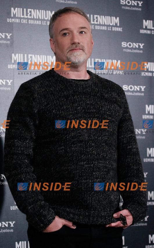 David Fincher.Roma 2012 01 09 Hotel St. Regis Photo Call del film Millennium Uomini che odiano le donne..Foto Insidefoto  Serena Cremaschi ...............
