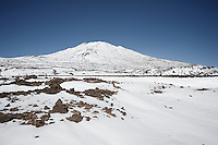 Riding up the snow covered Tiede Vulcano Pass<br /> <br /> Tenerife 2016