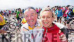 John and Fiona Brosnan at the Ring of Kerry cycle on Saturday.