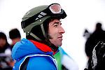 Challenge Mer et Montagne 2012, Saint Gervais les Bains, Mont Blanc, Haute Savoie, France..Ski Super Geant..Thierry Dubois