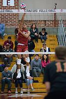 STANFORD, CA - December 30, 2017: Jaylen Jasper at Burnham Pavilion. The Stanford Cardinal defeated the Calgary Dinos 3-1.