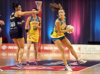 20.10.2015 Australia's Paige Hadley in action during the Silver Ferns v Australian Diamonds netball test match played ay Horncastle Arena in Christchruch. Mandatory Photo Credit ©Michael Bradley.