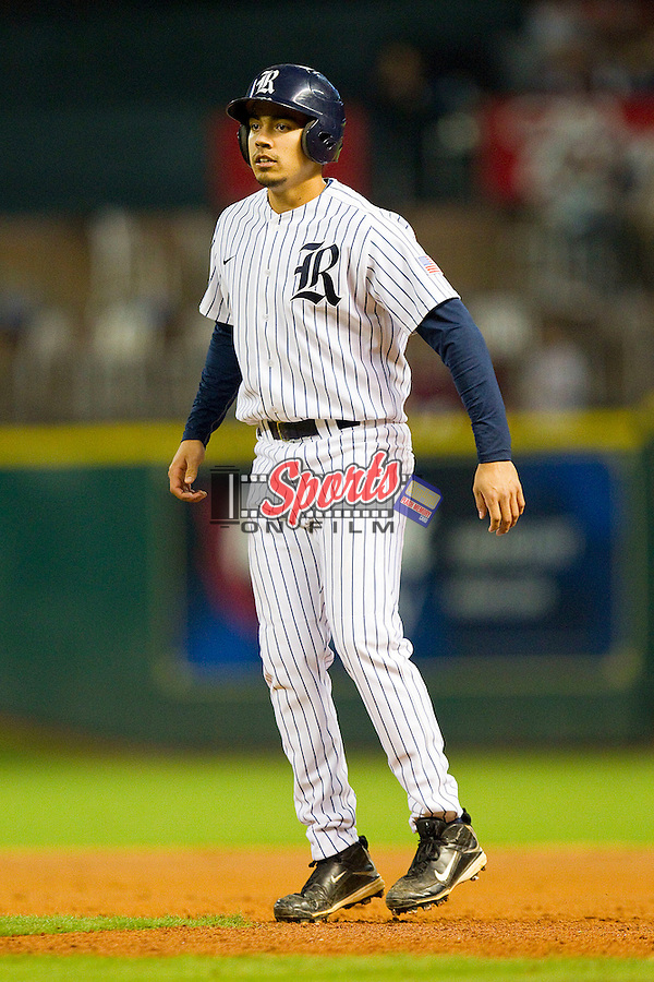 Anthony Rendon #23 of the Rice Owls takes his lead off of first base against the Texas A&M Aggies at Minute Maid Park on March 5, 2011 in Houston, Texas.  Photo by Brian Westerholt / Four Seam Images