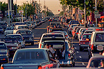 June 12, 1993, Modesto, California--Graffiti Night 1993-- This year the city of Modesto had a car show, cruise and booths downtown. Beephoto staff was covering the Graffiti Night action, my assignment was to photograph some of the down town activity but especially photograph Wolfman Jack.  Photo by Al Golub/Golub Photography