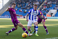 Sammie Szmodics of Colchester United is carefully shepherded by the Carlisle defence during Colchester United vs Carlisle United, Sky Bet EFL League 2 Football at the JobServe Community Stadium on 23rd February 2019