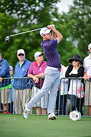 Vaughn Taylor (USA) watches his tee shot on 18 during round 1 of the Shell Houston Open, Golf Club of Houston, Houston, Texas, USA. 3/30/2017.<br /> Picture: Golffile   Ken Murray<br /> <br /> <br /> All photo usage must carry mandatory copyright credit (&copy; Golffile   Ken Murray)