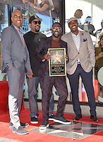 LOS ANGELES, CA. October 10, 2016: Kevin Hart with Tim Story (left), Ice Cube &amp; Will Packer at the Hollywood Walk of Fame Star Ceremony honoring comedian Kevin Hart.<br /> Picture: Paul Smith/Featureflash/SilverHub 0208 004 5359/ 07711 972644 Editors@silverhubmedia.com